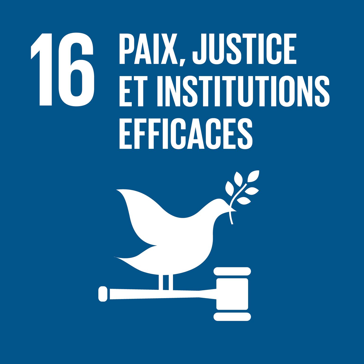 ODD Paix, justice et institutions efficaces